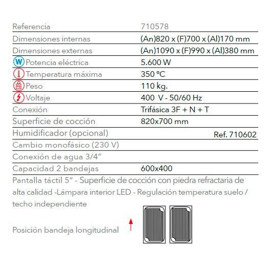 Características horno pastelería STP 642 FM