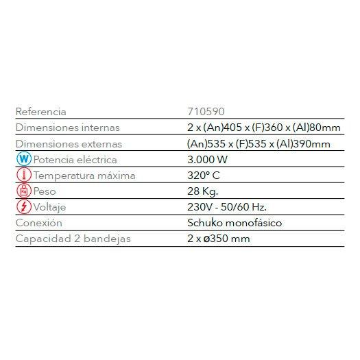 Características Horno Para Pizzas STZ 233 FM
