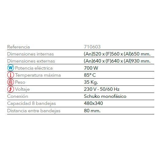 Características Fermentadora F 408 FM