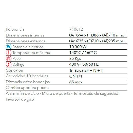 Características Regenerador RG 1011-A FM