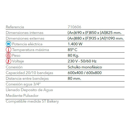 Características Fermentadora STF 620 FM
