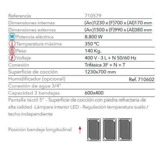 Características Horno STP 643 FM