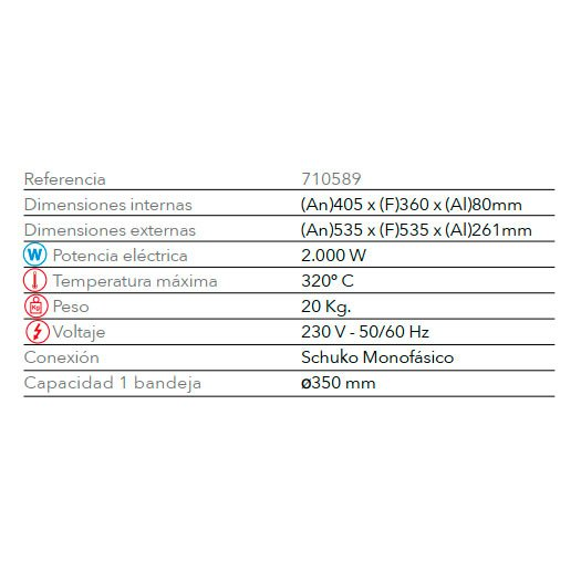 Características Horno Para Pizzas STZ 133 FM
