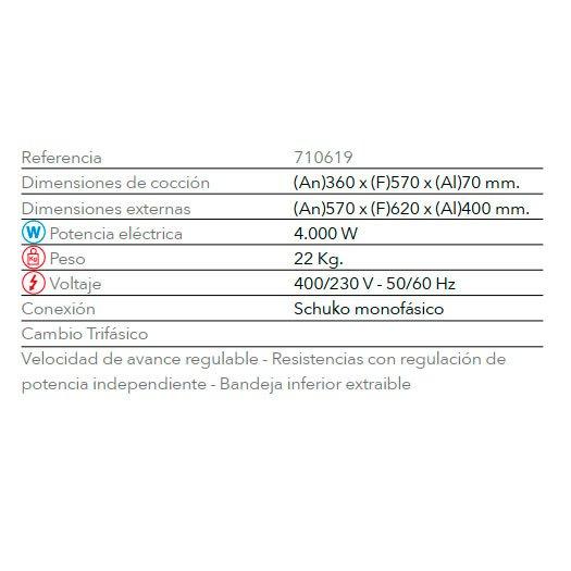 Tostador Buffet TTV 4000 FM Industrial